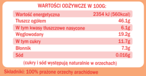 fitrec pasta orzechowa smooth